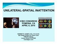 UNILATERAL SPATIAL INATTENTION (NEGLECT)