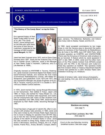October - Downey Amateur Radio Club
