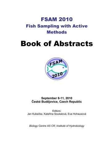 Book of Abstracts - Biology Centre of the Academy of Sciences of