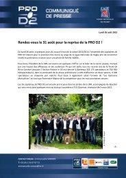 CP LNR - Reprise PRO D2 saison 2013 2014 - Ligue Nationale de ...