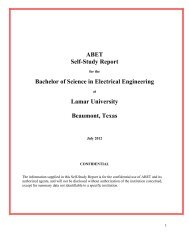 LUEE 2012 Self-Study Report (PDF) - Lamar University Electrical ...