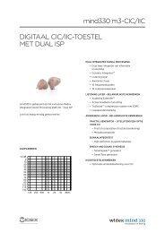 Digitaal CiC/iiC-toestel met Dual isP mind330 m3-CiC/iiC