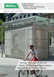 Une image ou une texture ? (PDF-Download) - RECKLI GmbH: Home