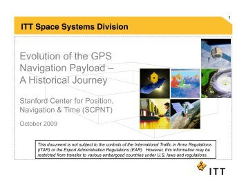 Evolution Of The GPS Navigation Payload - Stanford Center for ...