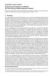 Kompetenzentwicklung in Lernfeldern im Unterricht gewerblich ...