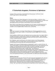 IT Sicherheits Ausgaben, Priorisieren & Optimieren - ISSS