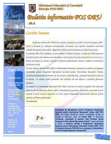 Buletin informativ POS DRU nr. 8 martie 2007