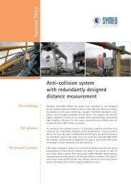 Success Story Anti-collision system with redundantly ... - Symeo