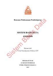 RPP Sistem Basis Data S1 SI - Blog Sivitas STIKOM Surabaya