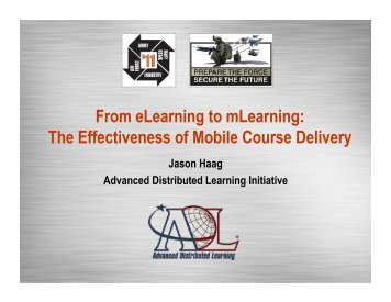 From eLearning to mLearning: The Effectiveness of Mobile Course ...