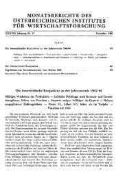 monatsberichte des österreichischen institutes für ... - Wifo
