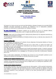 Assises du tourisme Aude 2011 CR atelier clientèle Affaires