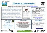 Children's Cent Children's Centre News ntre News