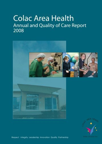 CAH Annual and Quality of Care Report 2008 - South West Alliance ...