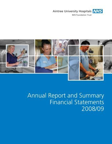 Annual Report 2008-09 - Aintree University Hospitals NHS ...