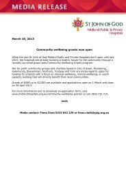 March 18, 2013 Community wellbeing grants now open