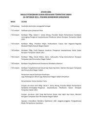 Aturcara Perasmian & Penutupan - Majlis Perbandaran Sandakan ...