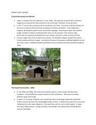 JAPAN'S EARLY HISTORY Cultural Borrowing from Abroad ...