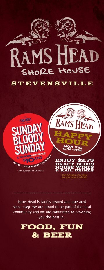 FOOD, FUN & BEER - The Rams Head Group