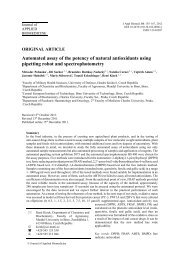 Automated assay of the potency of natural antioxidants using ...