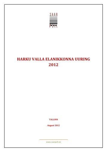 Harku valla elanikkonna uuring 2012 - Harku vald