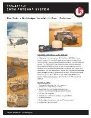 Model FSS-4000-2 COTM Antenna System - L-3 Communications