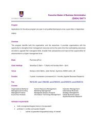 Executive Master of Business Administration (EMBA ... - UiTM Johor
