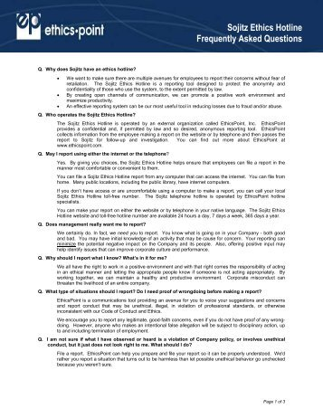 Faqs - EthicsPoint
