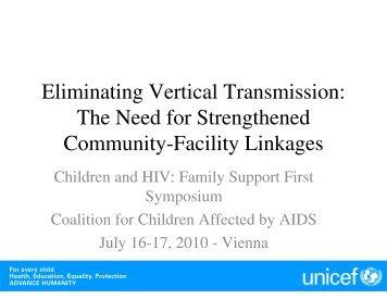 Eliminating Vertical Transmission - The Coalition for Children ...