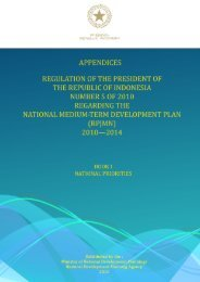 National Medium‐Term Development Plan (RPJMN 2010‐2014)