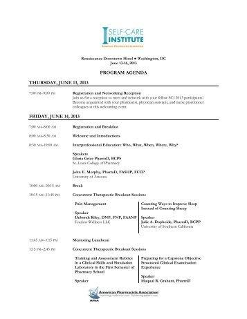 program agenda thursday, june 13, 2013 friday, june 14, 2013