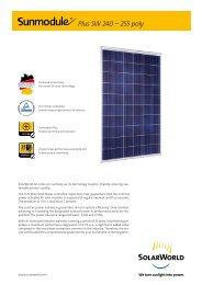 Plus SW 240 – 255 poly - SunFields Europe