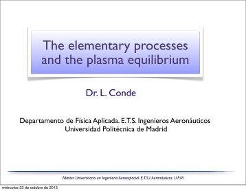 The elementary processes and the plasma equilibrium - Universidad ...