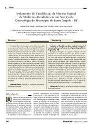 Isolamento de Candida sp. da Mucosa Vaginal de ... - NewsLab