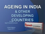 Himanshu Rath - Agewell International - Division for Social Policy ...