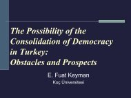 The Possibility of the Consolidation of Democracy in Turkey ...