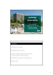 Antibiotic Antibiotic stewardship