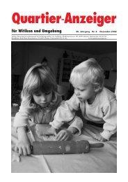 Ausgabe 8, Dezember 2008 - Quartier-Anzeiger Archiv
