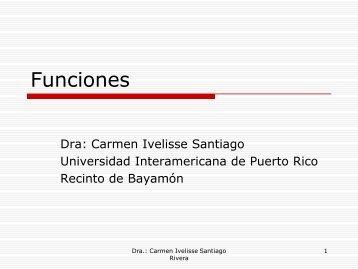 Funciones - Universidad Interamericana de Puerto Rico