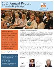 2011 Annual Report & Grant Making Highlights - Washington ...