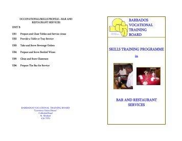 Download the Skills Training Programme Bar & Restaurant Services ...