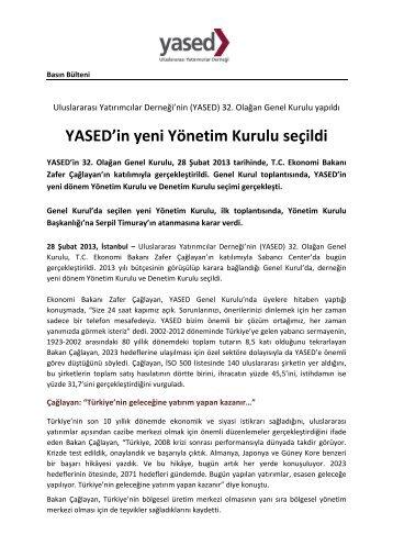 YASED'in yeni Yönetim Kurulu seçildi - YASED Uluslararası ...