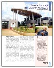 Bauxite Shortage Hits Vedanta Aluminium - Metalworld.co.in