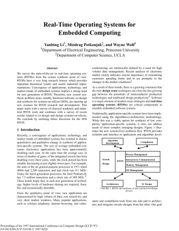 ICCD'97: Real-Time Operating Systems for Embedded Computing