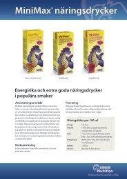 MiniMax® näringsdrycker - Nestlé Nutrition