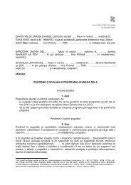 Vzorec Pogodbe o izvajanju programa - Zavod RS za zaposlovanje