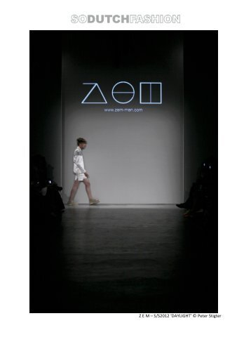 Z E M lookbook SS12 - Dutch Fashion Foundation