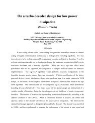 On a turbo decoder design for low power dissipation (Master's Thesis)