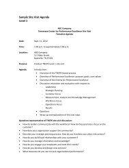 Sample Site Visit Agenda Level 1.pdf - Tennessee Center for ...
