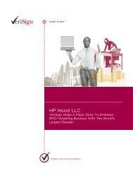 HP Hood LLC - VeriSign